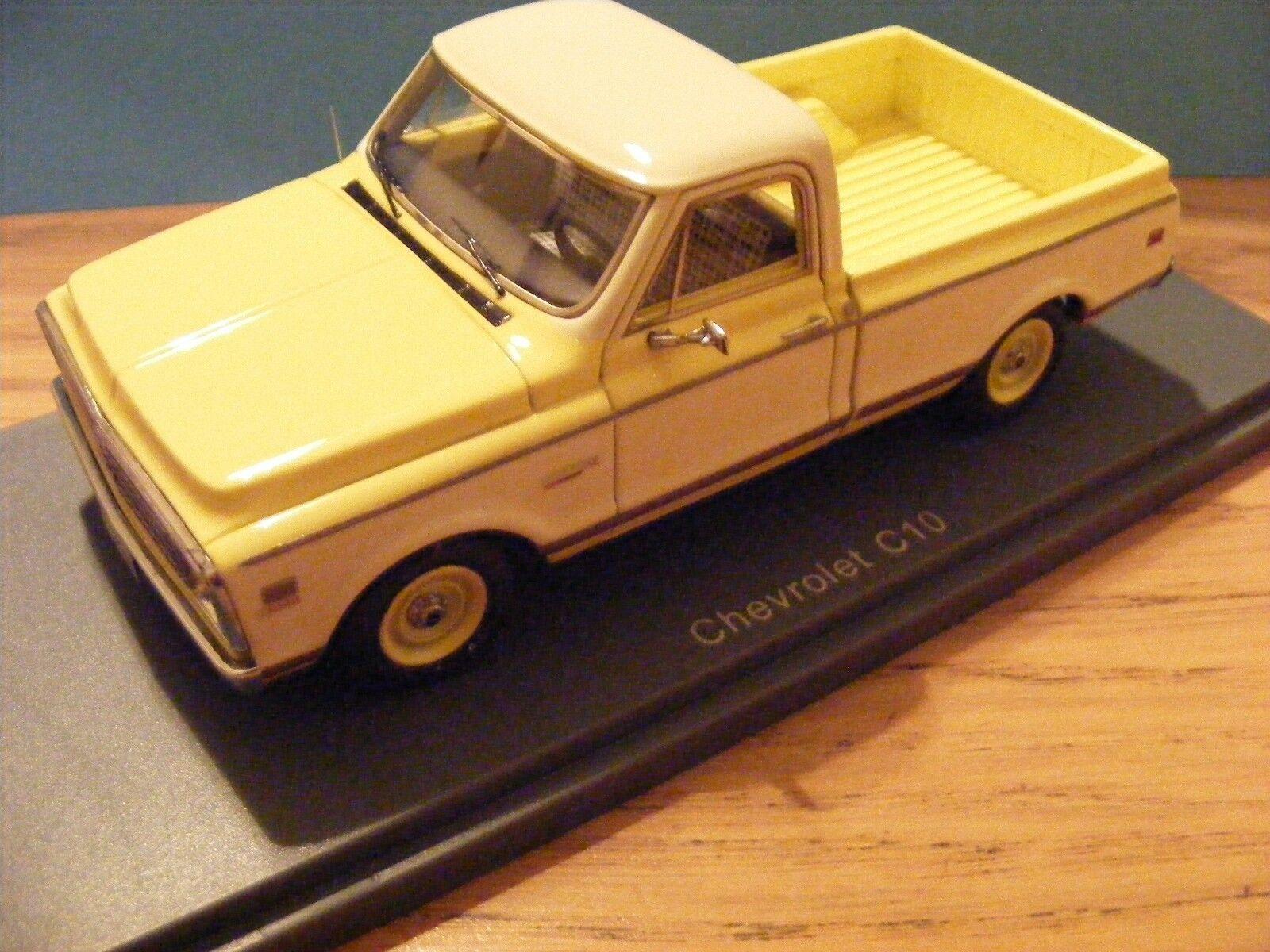 Chevrolet C 10 recoger en Amarillo 1 43 nla Raro 1971 Neo Model