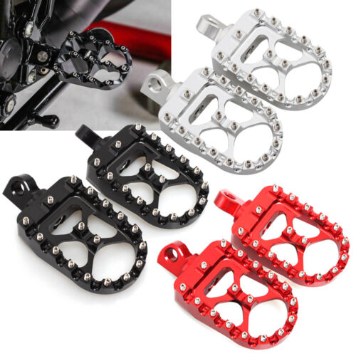 Red//Black//Silver Wide Fat Foot Pegs Footrests For Harley Sportster 883 1200 Dyna