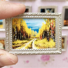 Vintage Miniature Dollhouse Framed Wall Painting 1:12 Doll Home Decor Pip TO