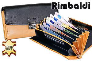 Rimbaldi ® Cuir Serveur Bourse Avec Extra Renforcé Hartgeldfach En Noir/nature-afficher Le Titre D'origine