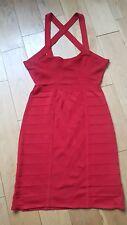 New Twenty8Twelve by S.Miller Verlie Bandage Bodycon Dress Sz 10 uk in Red