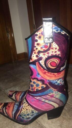 Women's Size 7~Western Cowboy Boots~Rain Boots Rub
