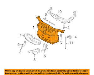 bmw oem 08 13 328i radiator core support bracket panel 51718046509 rh ebay com bmw 328i cooling system diagram 2007 bmw 328i cooling system diagram