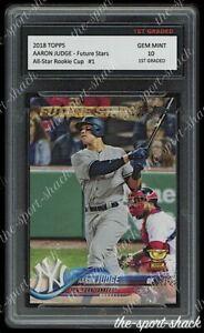 🌟2018 Aaron Judge Topps Future Stars Rookie Cup 1st Graded 10 N.Y. Yankees Card