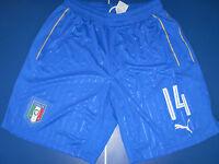 no maglia short calcio italia puma match worn usato size L nr 14