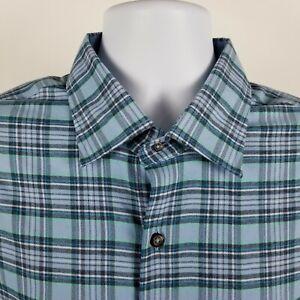 Peter-Millar-Crown-Sport-Mens-Blue-Check-Plaid-L-S-Dress-Button-Shirt-Sz-XL