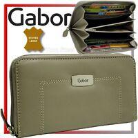 Gabor RV Damen Portmonee (Leder, sand-grau/taupe) Purse Geldbeutel Geldbörse Neu