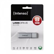 INTENSO USB Speicher Stick * ALU Line * Kapazität 8 GB * Elegantes Design