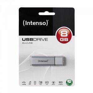 INTENSO-USB-Speicher-Stick-ALU-Line-Kapazitaet-8-GB-Elegantes-Design