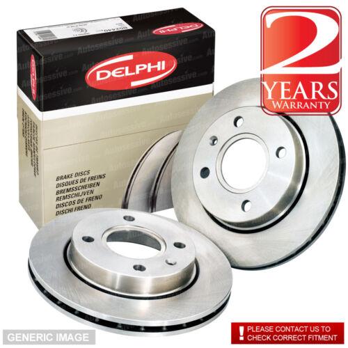 Front Vented Brake Discs Ford Fiesta 1.25 Hatchback 2008-13 60HP 258mm