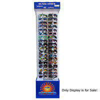 Two Sided Floor Model Cardboard Sunglasses Display 62.5 H X 15 W X 14 D