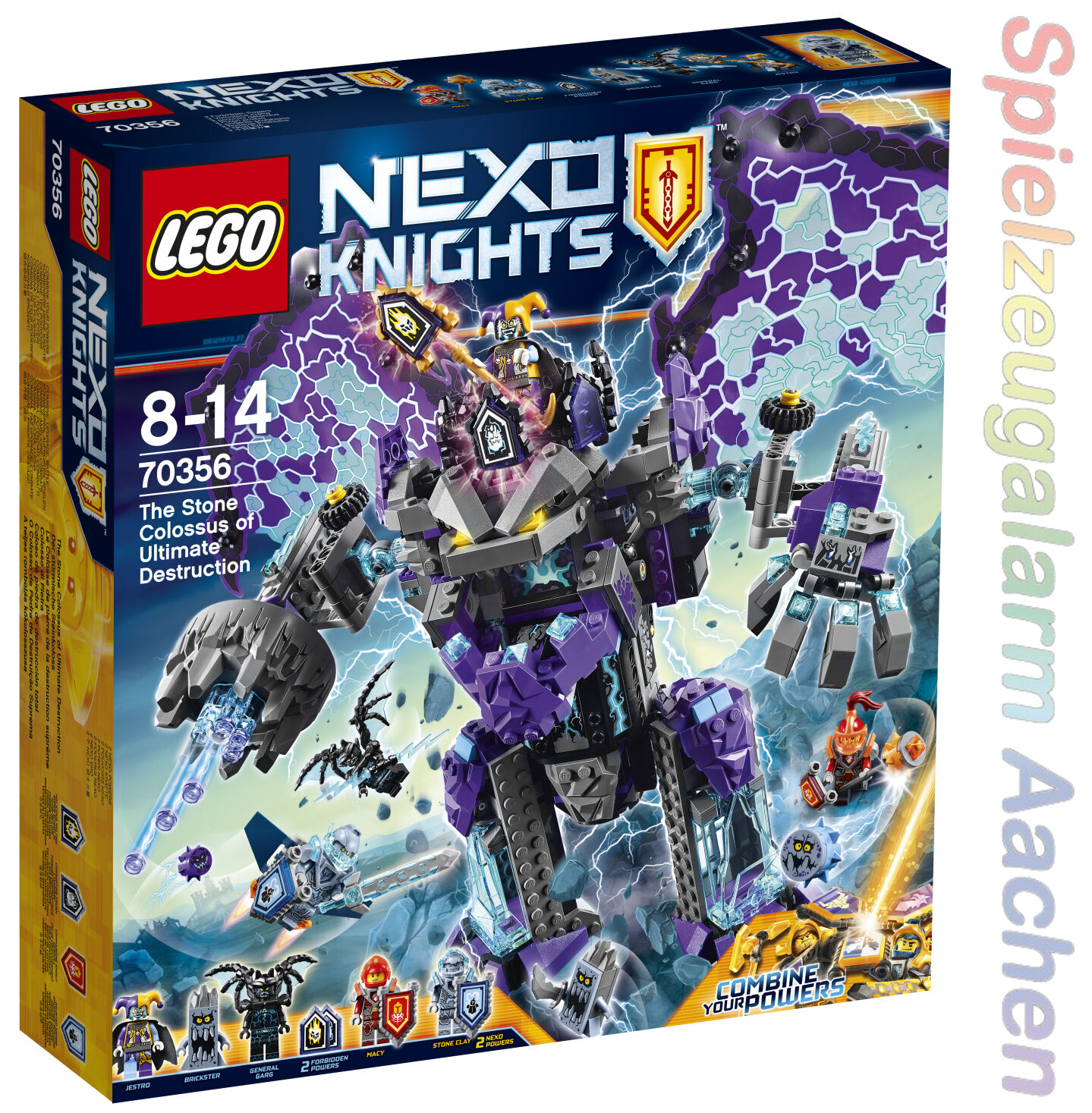 Lego 70356 Nexo Knights  of stormy Stone Colossus jestro General Garg n6 17  haute qualité