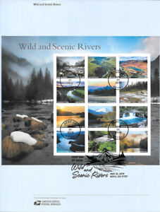 1917-55c-Forever-Wild-and-Scenic-Rivers-5381a-l-Souvenir-Page