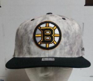 Boston Bruins New NHL REEBOK FACE OFF Flex Fitted Hat Cap S M FREE ... 1800ece0fd3a