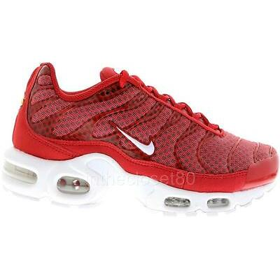 Nike Air Max Plus Tuned 1 Tn University Red White Mens Trainers 647315