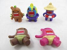 DOMO KUN FIGURINE Domo Colorful Figure Charm - Lot of 5 Figures