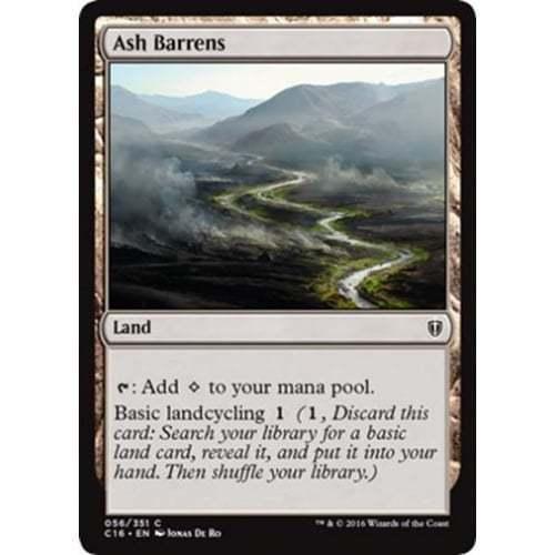 1x ASH BARRENS NM Magic the Gathering@ Commander//m25 MTG Rare