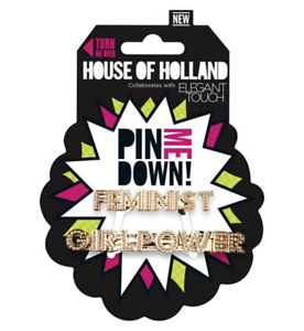 Elegant-Touch-Hair-Clips-Feminist-House-of-Holland-by-Girl-Power-Fashion-NEW