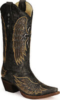 Corral Boot Womens Black Cutout Cross Snip Toe Boot Style A1967 Free Shipping