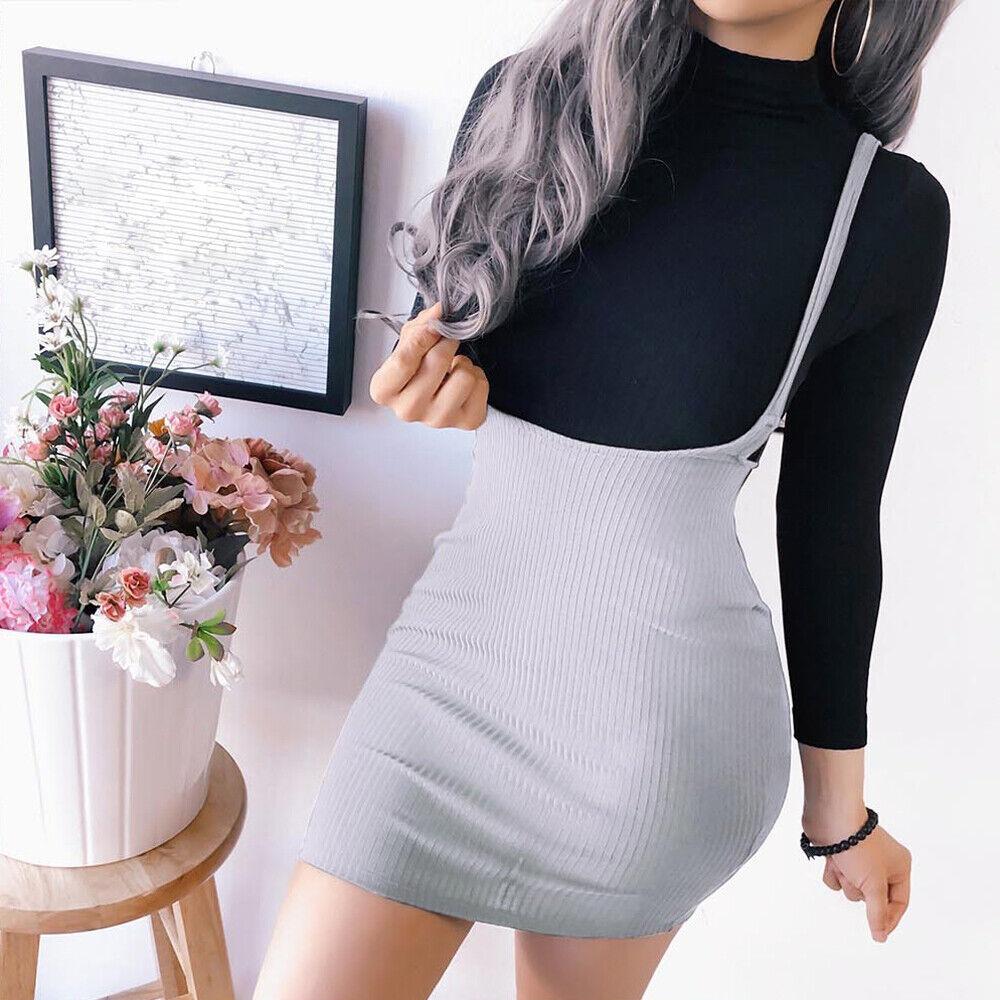 Summer Boho Women Semi-Backless Mini Bodycon A-line Dress Straps Hem Beach Skirt