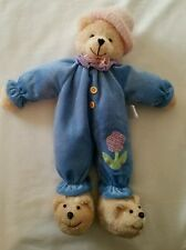 Prima Creations Teddy Bear in Blue Pajamas and Teddy Bear Slippers