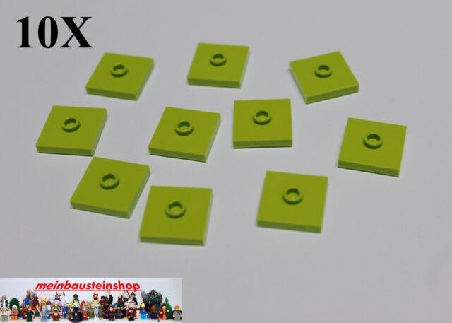 50 Lego Fliese Fliesen 2x2 mit 1 Noppe grün NEU 87580
