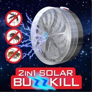 New-Solar-Powered-Buzz-UV-Lamp-Light-Fly-Insect-Bug-Mosquito-Kill-Zapper-Killer