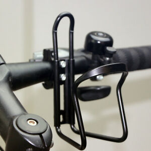 Motorcycle ATV Bike Handlebar Drink Cup Holder Water Bottle Stand Set Kit Black