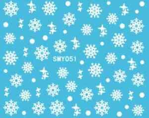 Nailart-stickers-autocollants-ongles-scrapbooking-flocons-de-neige-blancs