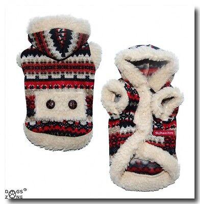 Hundemantel,Strickoptik ,Jacke,Pullover RED SNOW DOG