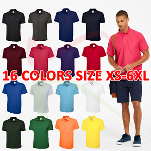 Uneek-1-3-5-10-PACK-Men-039-s-Classic-Polo-shirt-Short-Sleeve-Workwear-Tee-UC101-LOT