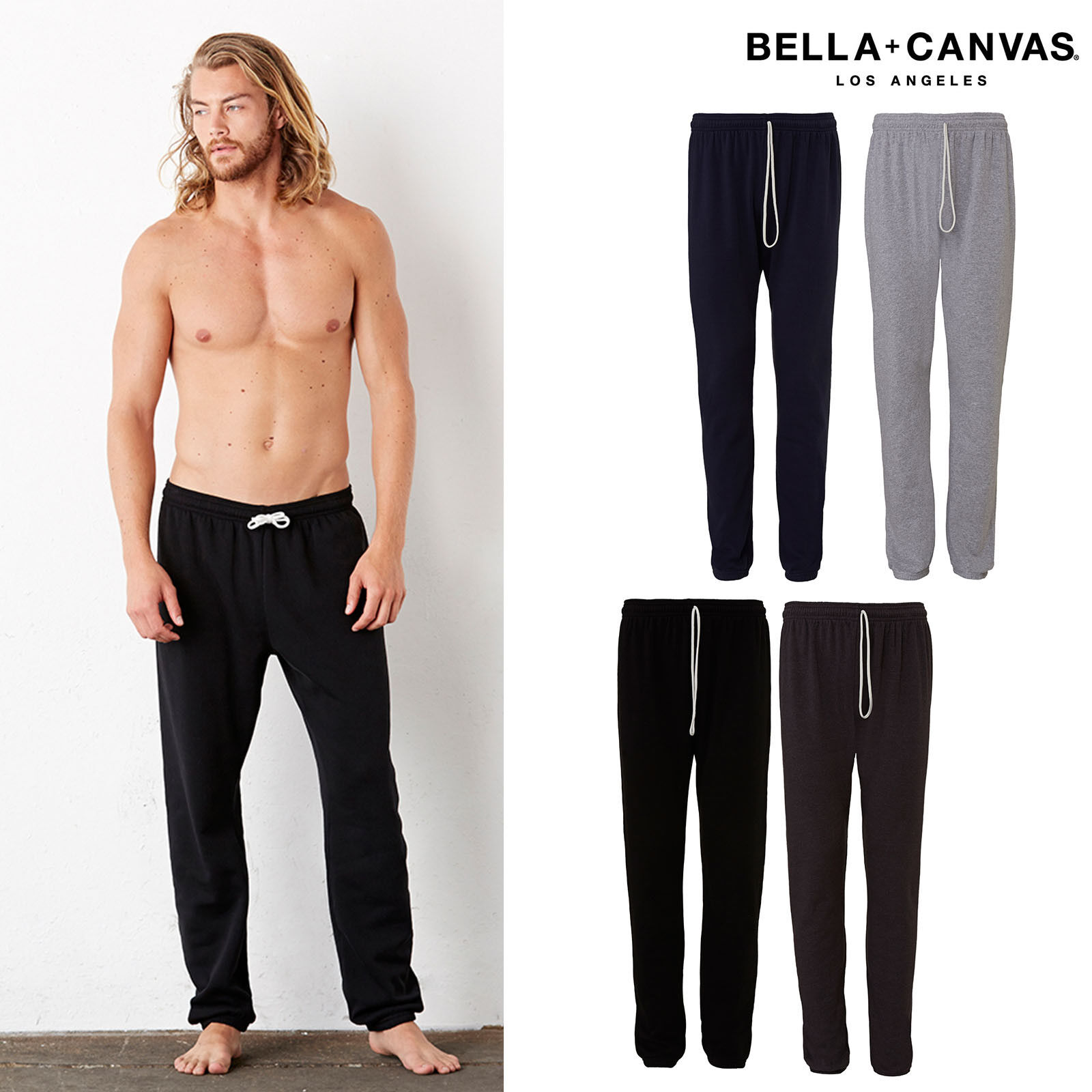 Bella + Canvas Unisex Polycotton Fleece Long Scrunch Pant 3737