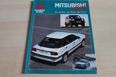 124814) Mitsubishi - Modellprogramm - Aktuell 09/1989
