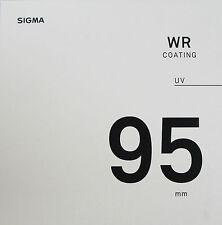 Sigma 95mm UV WR Coating Lens Filter - New & Sealed UK Stock
