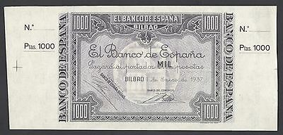 VF CONDITION VERY RARE. SPAIN LOT 5x  5 PTAS 1937-BANCO DE BILBAO