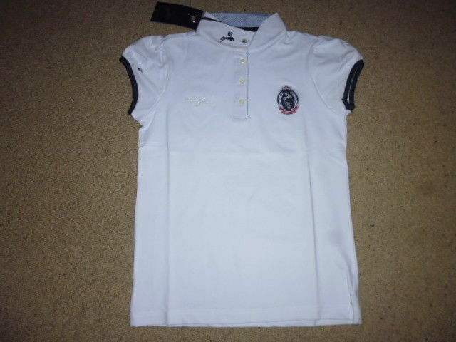 Spooks ll Show Shirt short sleeve white size L  14 competition