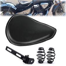Set Motorcycle Leather Solo Seat Bracket Springs For Harley Chopper Bobber Honda