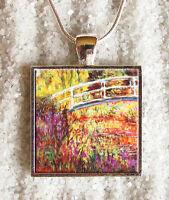 Pendentif Collier Claude Monet Pont Nympheas Pendaglio Ciondolo Collar Bijoux