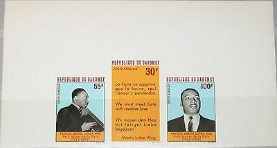 Dahomey 1968 346-48 U C71-c73 Imperf Martin Luther King Civil Right Leader Mnh Reinweiß Und LichtdurchläSsig
