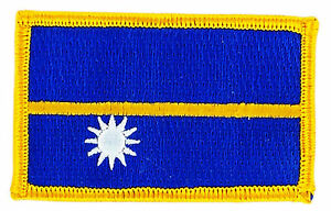 FLAG PATCH PATCHES NAURU  IRON ON COUNTRY EMBROIDERED WORLD SMALL 3700868701497