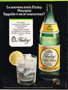 PUBLICITE-1972-FINLEY-tonic-water-soda
