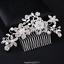 Bijoux-Mariee-Argent-Strass-Cristal-Mariage-Fleur-Perles-Clip-Peigne-De-Cheveux miniature 4