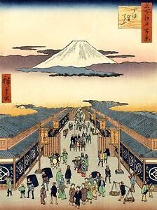 PAINTING-JAPANESE-WOODBLOCK-MARKET-PLACE-ART-POSTER-PRINT-LV2613