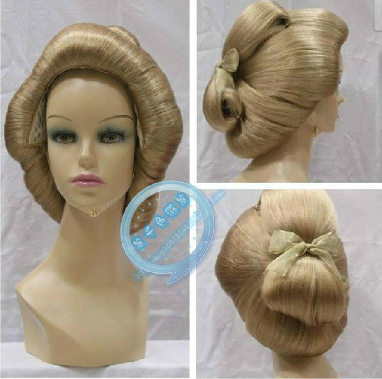 Japanese Geisha Big Dish Made Styling Multicolor Optional Daily Synthetic Wig
