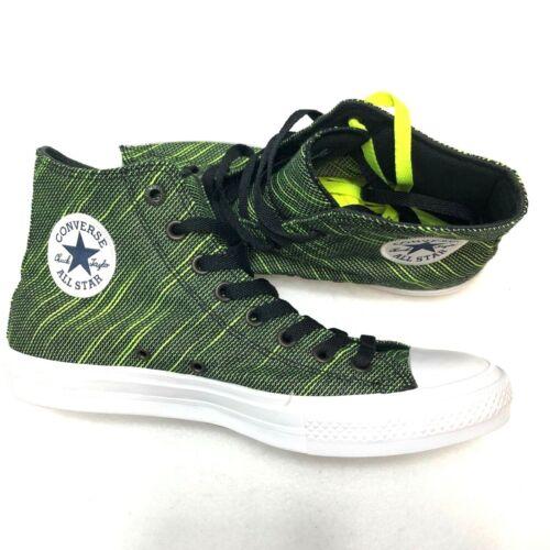 Converse Mens Chuck Taylor All-Star II Knit Volt Green Black $80 New 151086C