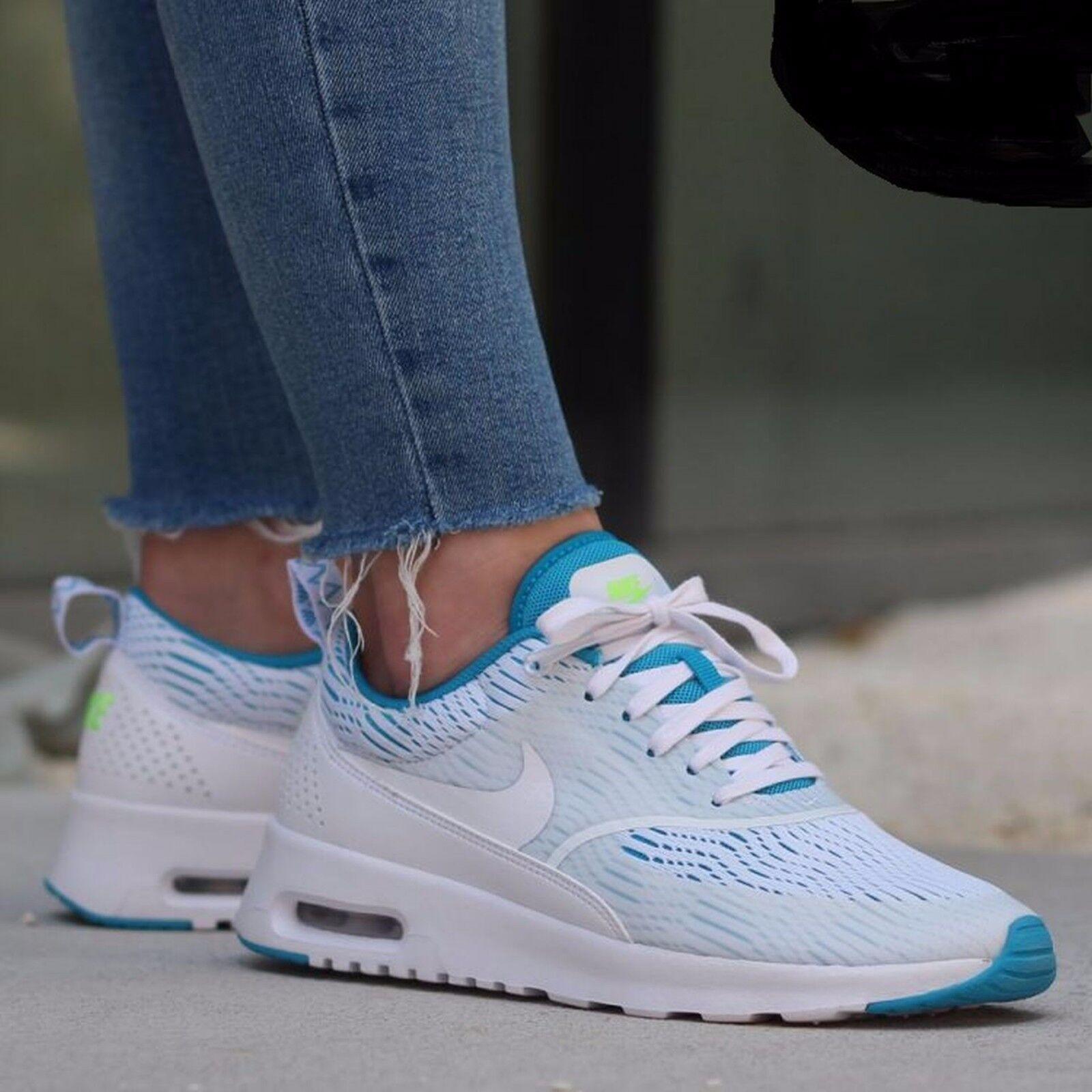 Nike Air Max Thea EM Running White/Blue Lagoon/Ghost Green 833887 100 Wmn Sz 8.5