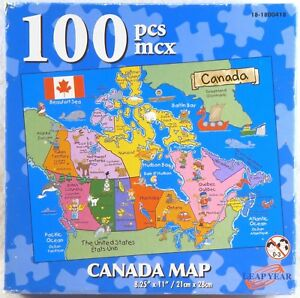 Canada Map Educational Puzzle