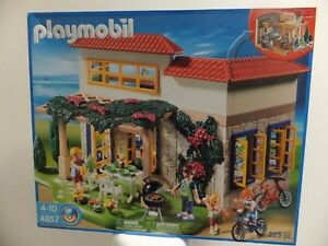 PLAYMOBIL-4857-Summer-Vacation-House-Home-Retired-New-in-Box