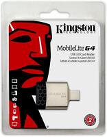 Kingston MobileLite G4 USB 3.0 Micro SDHC Pro Duo Memory Card Reader 16 32 64 GB