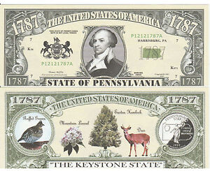 State Free Dollar Fake Bill Money Ebay Pennsylvania Funny With Sleeve Note Classic Of